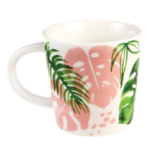 Palm Leaf Porcelain Mug