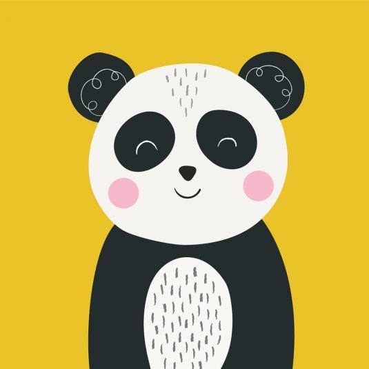 Panda Animal Friend kids greeting Card
