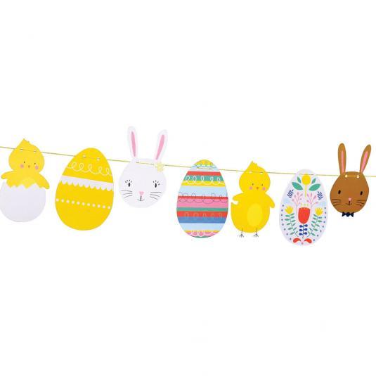 Paper Easter Garland
