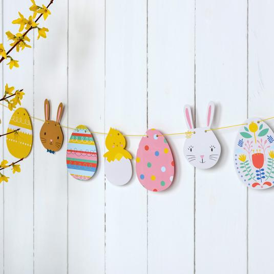Paper Easter Garland