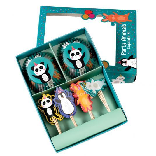 Children's cupcake decoration kit - Party Animals