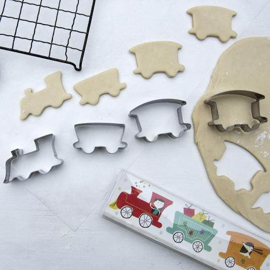 Set Of 4 Party Train Cookie Cutters