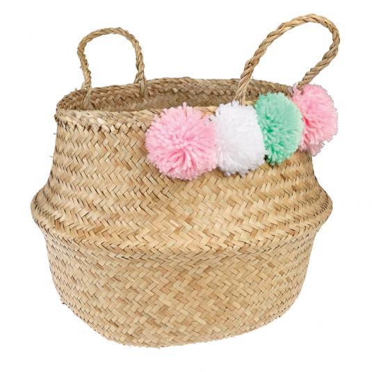 Pastel Pom Pom Belly Basket