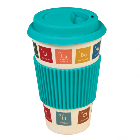 periodic table printed travel mug for men