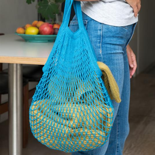 Petrol Blue net shopping bag