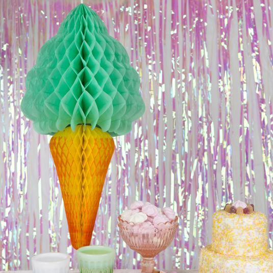 Pistachio Ice Cream Honeycomb Party Decoration
