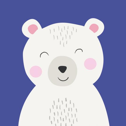 Polar Bear Animal Friend kids greetings Card