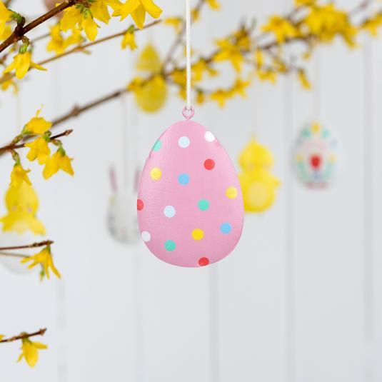 Polka Dot Easter Egg Decoration