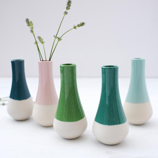 Dipped Ceramic Vases