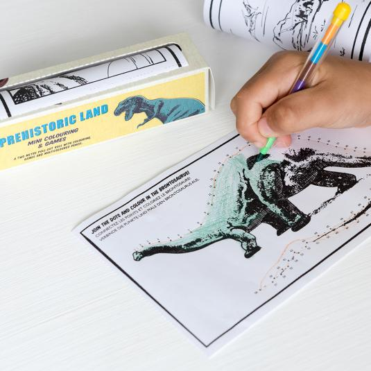 Prehistoric Land Mini Colouring And Games