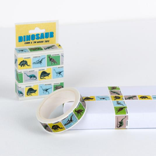 comic book dinosaur printed craft Tape