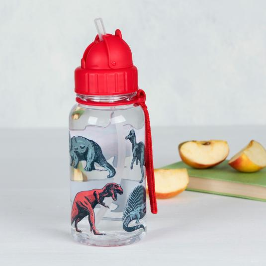 Prehistoric Land Dinosaur Print Kids Water Bottle