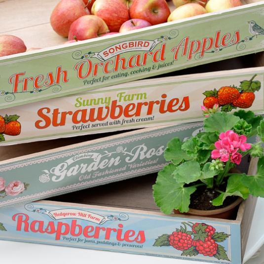 Garden Roses Wooden Crate