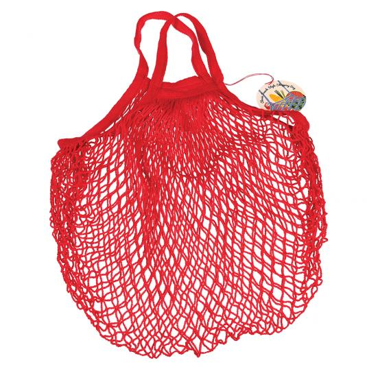 Red Cotton Net Grocery Shopping Bag
