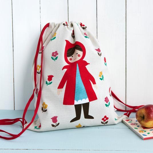 Red Riding Hood Kids Drawstring Bag