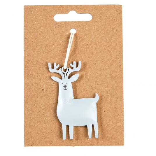 Reindeer christmas hanging Metal Decoration