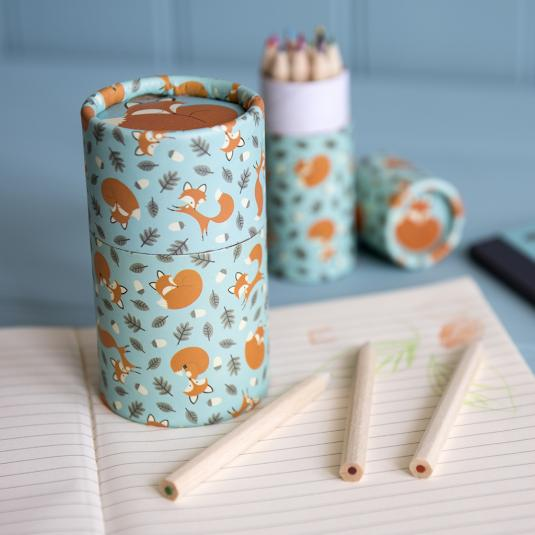 Set Of 36 Rusty The Fox Design Colouring Pencils