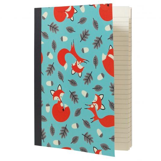 Rusty The Fox blue kids Notebook