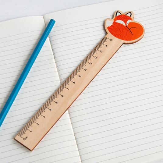 Rusty The Fox Design Wooden Ruler
