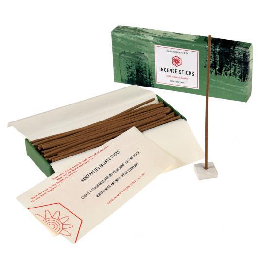 Sandalwood Incense Sticks With Ceramic Holder
