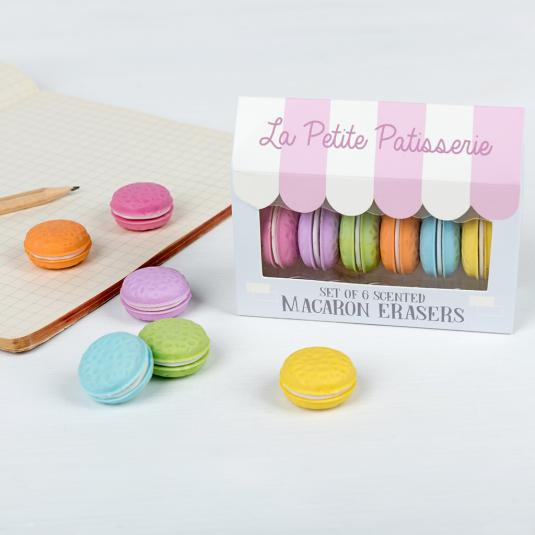 scented rubbers - set of 6
