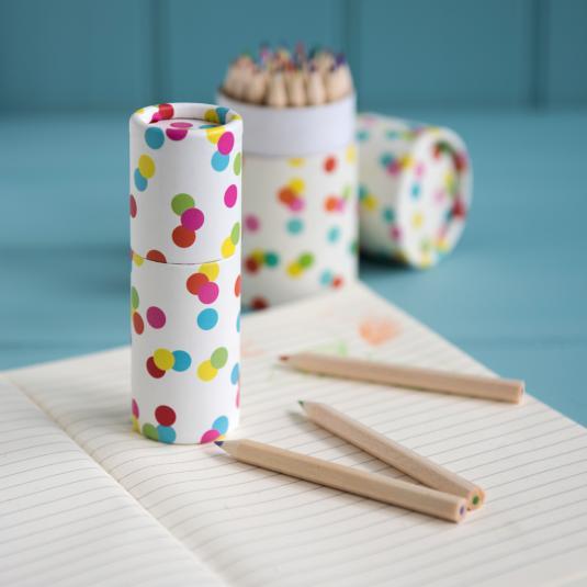 Set Of 12 Colouring Pencils Confetti Design