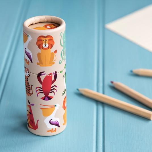 Set Of 12 Pencils Colourful Creatures