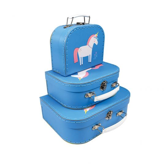 Set Of 3 Cases Magical Unicorn Design