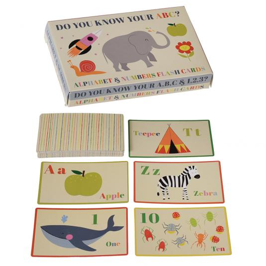 Set Of 36 Alphabet And Number Flash Cards