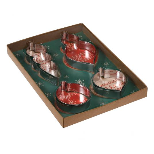 Set Of 4 Bauble Biscuit Cutters