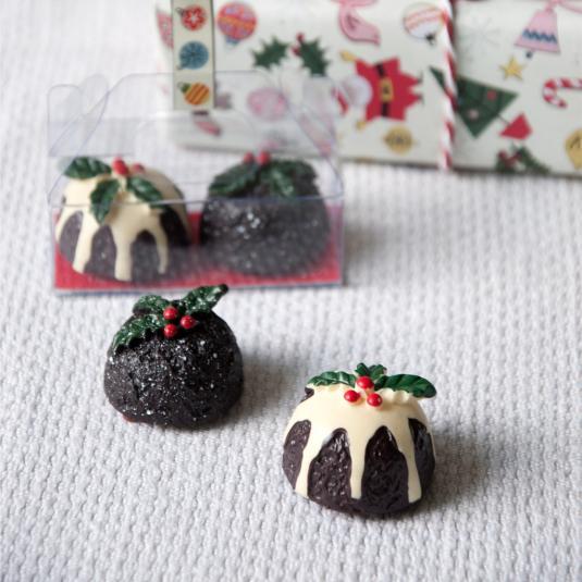 Set Of 2 Christmas Pudding Lip Balms