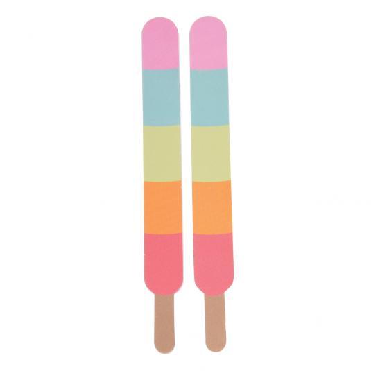 Colourful nail files