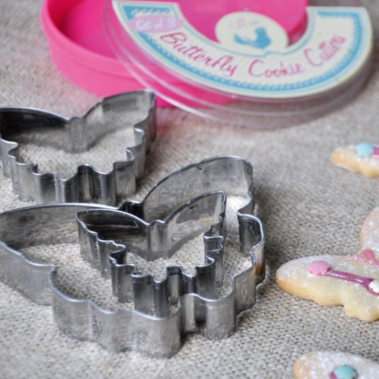 3 Butterfly Shaped Cookie Cutters