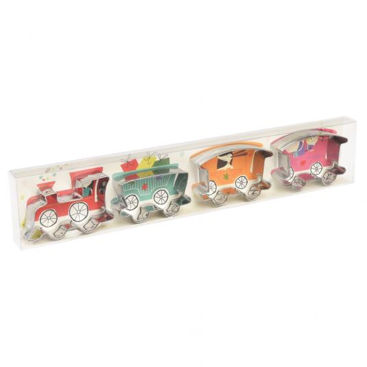 Pack Of 4 Party Train Biscuit Cutters