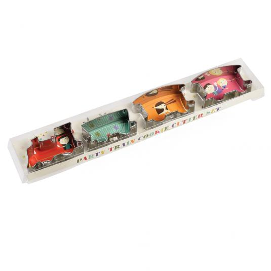 Party Train Cookie Cutters in a gift box