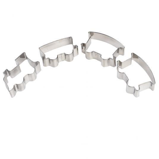Train and railway carriage cookie cutters