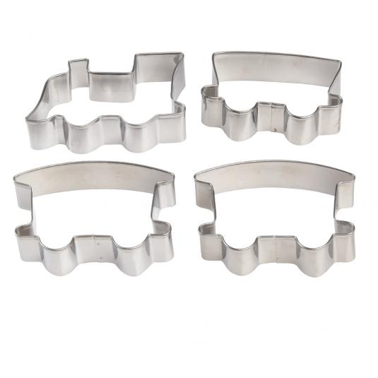 4 Piece Train Shaped Cookie Cutters