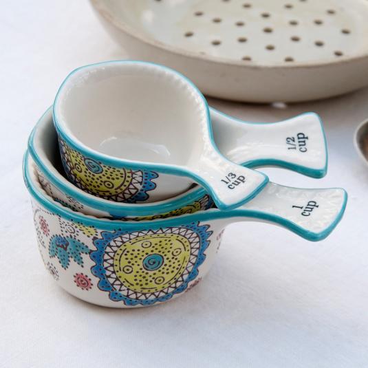 Set Of Three Ceramic Measuring Cups