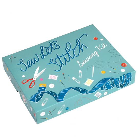 Sew Let's Stitch box of sewing supplies