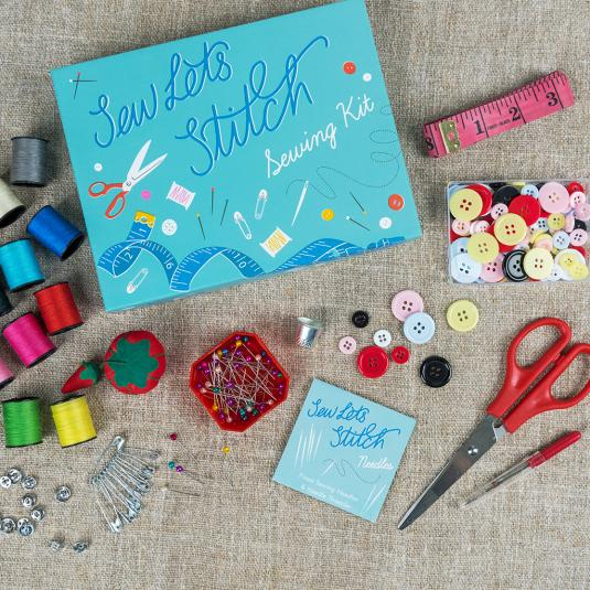 sewing set in a gift box