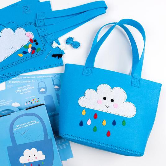 mak your own Happy Cloud blue bag kit