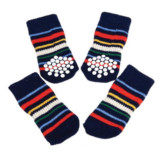 Small Stripes Design Dog Socks