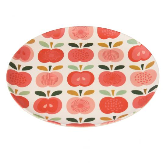 Small Vintage Apple Bamboo Plate