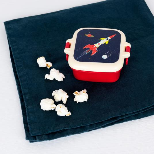 Space rocket snack pot made from BPA free plastic