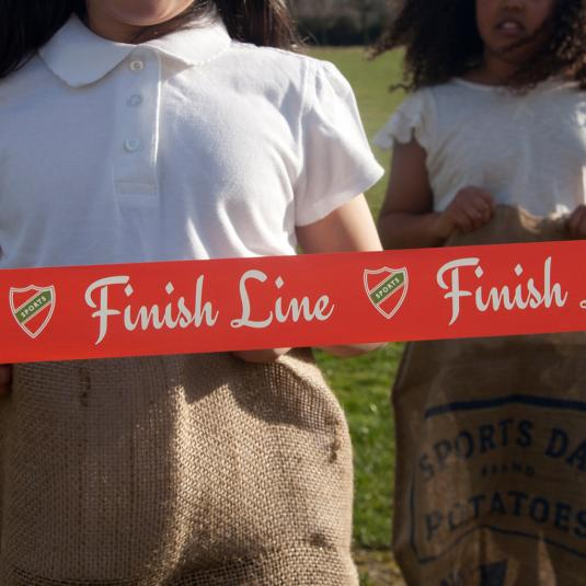 red Sports Day Finishing Line Tape