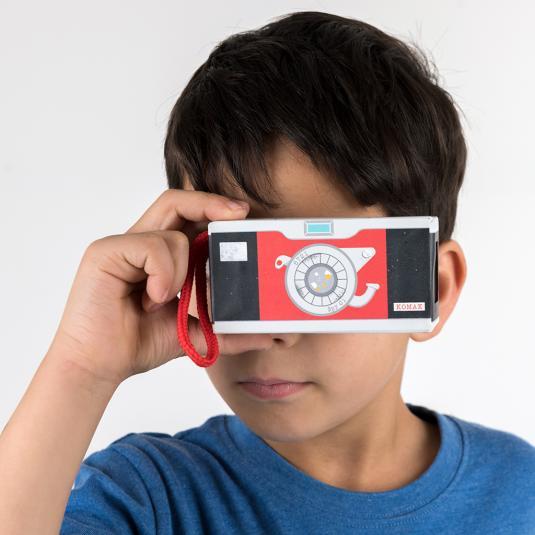 Children's trick camera with mirror