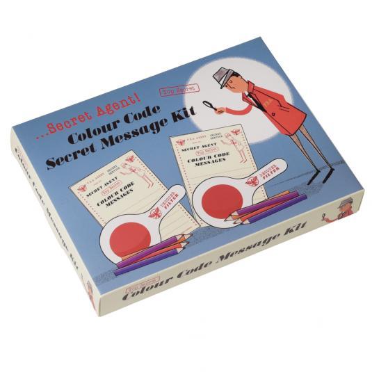 Spy Set Secret Messages Set in a Retro Box