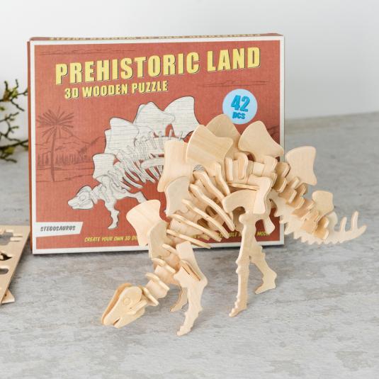 Stegosaurus dinosaur 3d Wooden Puzzle