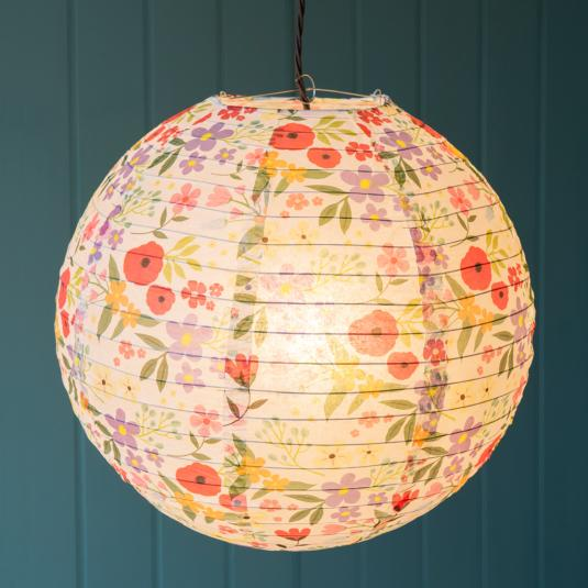 Floral Print Paper Light Shade