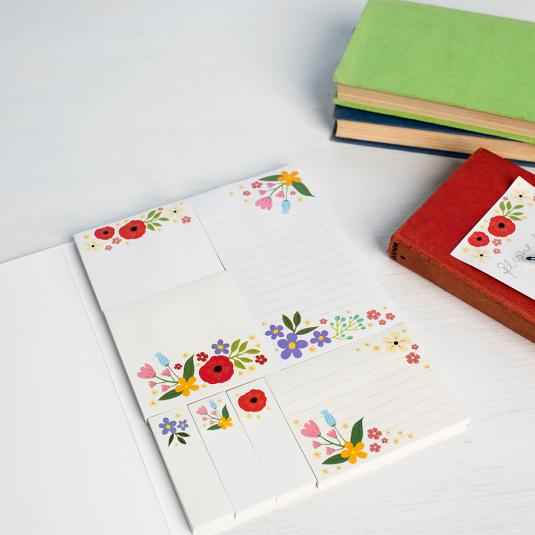 Summer Meadow Memo Pads and Sticky Notes